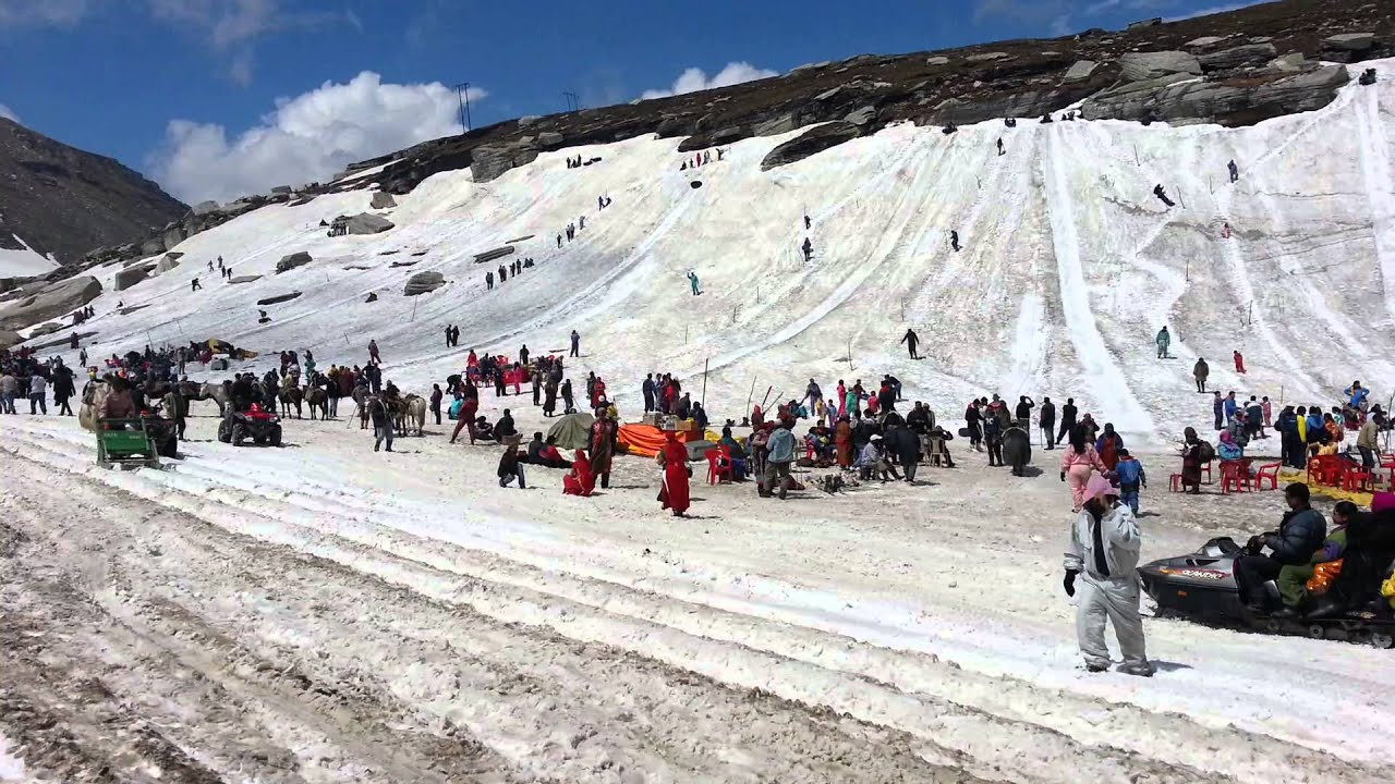 Image result for rohtang pass snowfall hd