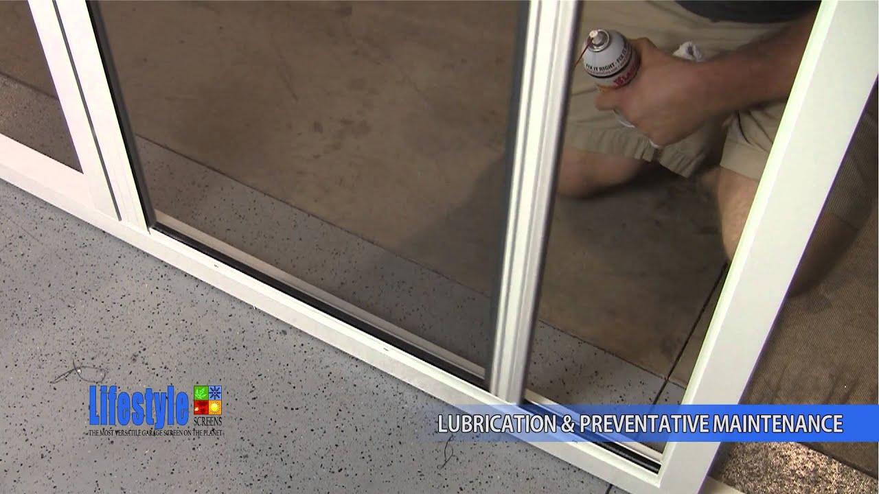 lubrication u0026 screens garage door screen