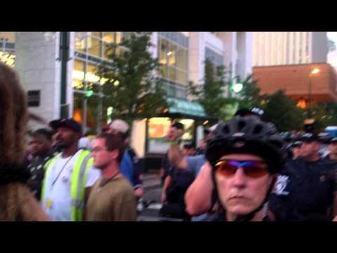 DNC 2012 - Police Blockade On S. Graham And Tryon