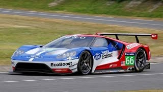 2017 Ford GT Race Car Track Testing Spy Video