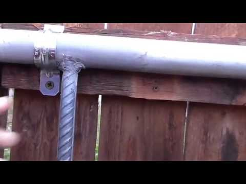 How to make a double gate latch cheap - YouTube