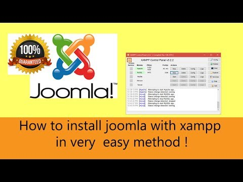 How to install joomla with xampp in very  easy method ! thumbnail