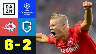 Haland mit Dreierpack bei Salzburgs Schützenfest: Salzburg - Genk 6:2   UEFA Champions League   DAZN
