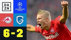 Haland mit Dreierpack bei Salzburgs Schützenfest: Salzburg - Genk 6:2 | UEFA Champions League | DAZN
