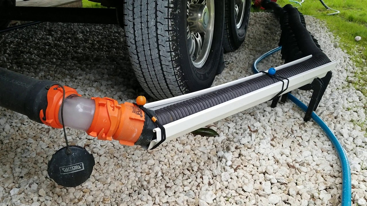 Rv Sewer Hose Support Plastic Gutter Section Youtube