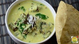 Okra Curd Curry - Vendakkai More Kuzhambu - By Vahchef @ Vahrehvah.com