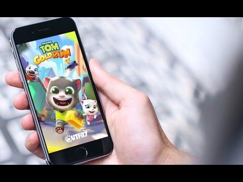 Говорящий Том: бег за золотом Gameplay IOS & Android HD