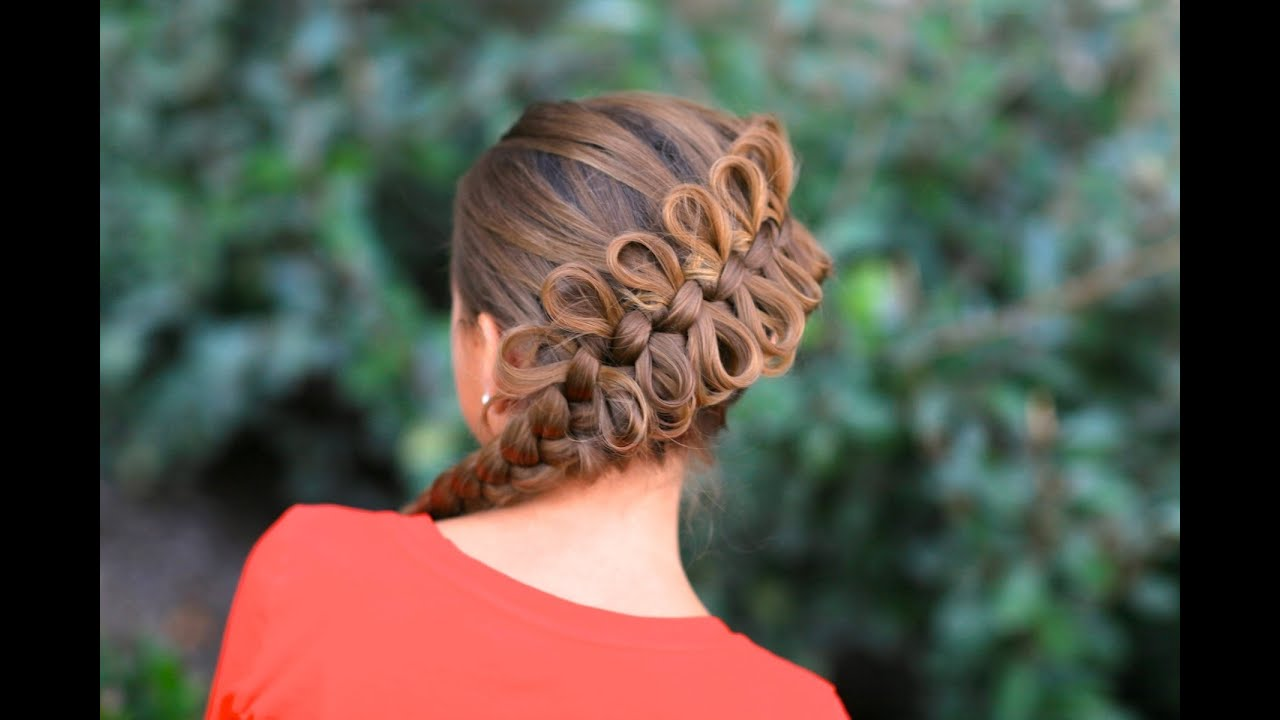 Cute Hair Styles With Braids: How To Create A Diagonal Bow Braid