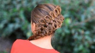 Repeat youtube video How to Create a Diagonal Bow Braid