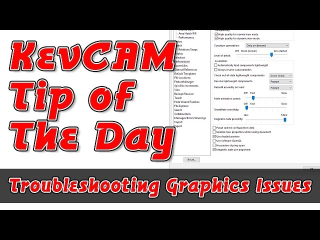 Tip of the Day - Troubleshooting Graphics Issues