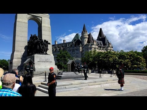 Changing of the Guards at the Canadian National War Memorial in Ottawa, Canada