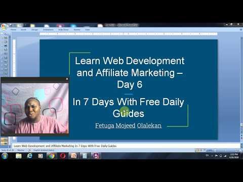 7 days Web Development and Affiliate Marketing Guide Affiliate Marketing