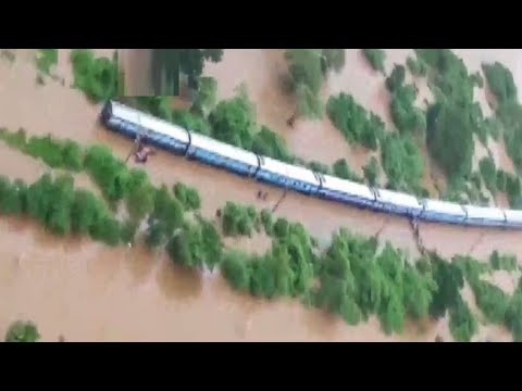 Maharashtra Heavy rain Train