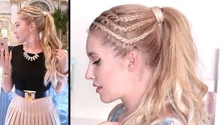 HAIR TUTORIAL: braided high ponytail ★ LOOKBOOK: night out style