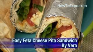 Easy Feta Cheese Pita Sandwich Best Cheese Sandwich