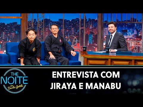 Entrevista com Jiraya e Manabu  The Noite 120719