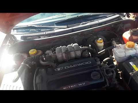 Работа двиготеля Daewoo Nubira 1.6