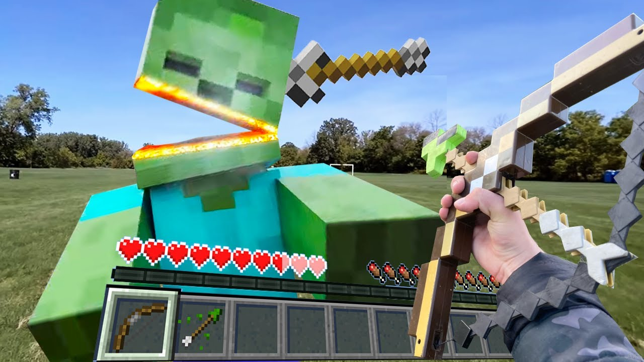 Майнкрафт от Первого Лица в Реальной Жизни 創世神第一人稱真人版 Minecraft Real POV Realistic Texture Pack