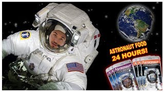 I ONLY Eat Space Food For 24 Hours *Area 51*... (IMPOSSIBLE FOOD CHALLENGE)