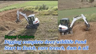 Building Wildlife Pond, Core trench & dam, Start to finish! Kapper Outdoors real estate