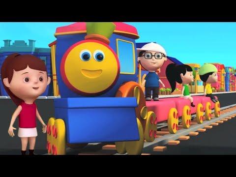 Bob il treno | Ruote Sul Treno | Canzone per i bambini | Bob Train Rhyme | Bob Wheels On The Train