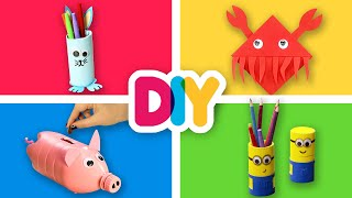 4 Useful BACK TO SCHOOL Craft ideas to do with your kid | Fast-n-Easy | DIY Arts & Crafts for Kids
