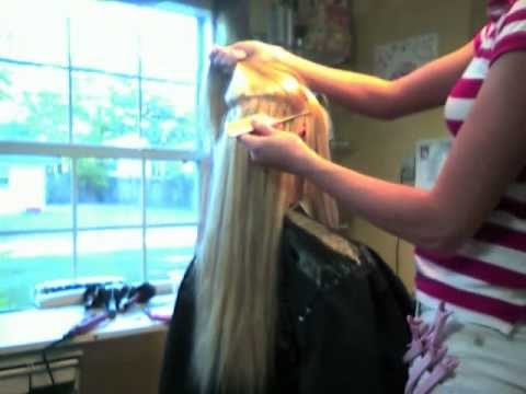 how to apply fusion hair extensions  by brittany greek