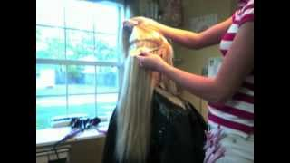 ~How to apply Fusion Hair Extensions!~by Brittany Greek Salon Jacksonville Fl The Salon of Jax Beach