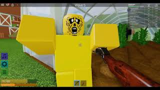 I am jast killing zombes in roblox