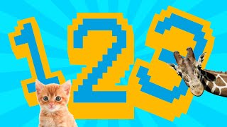 Counting Numbers 1-5 With Funny Animals - Educational Videos for Toddlers