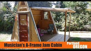 Portland, OR A-frame Cabin Doubles as a Musician