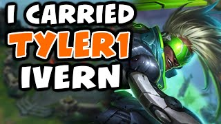 I found TYLER1's legendary IVERN and CARRIED him closer to CHALLENGER | Ekko - League of Legends