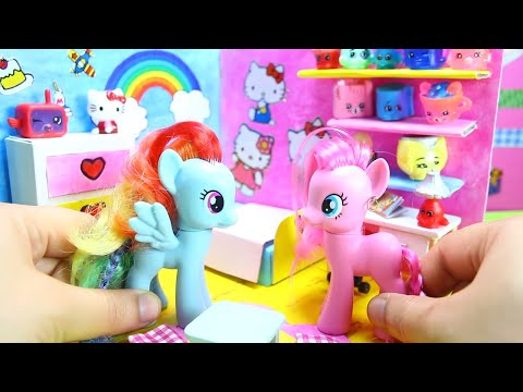 How To Make A MY LITTLE PONY BEDROOM | Rainbow Dash Surprise Dolls Room - Simplekidscrafts