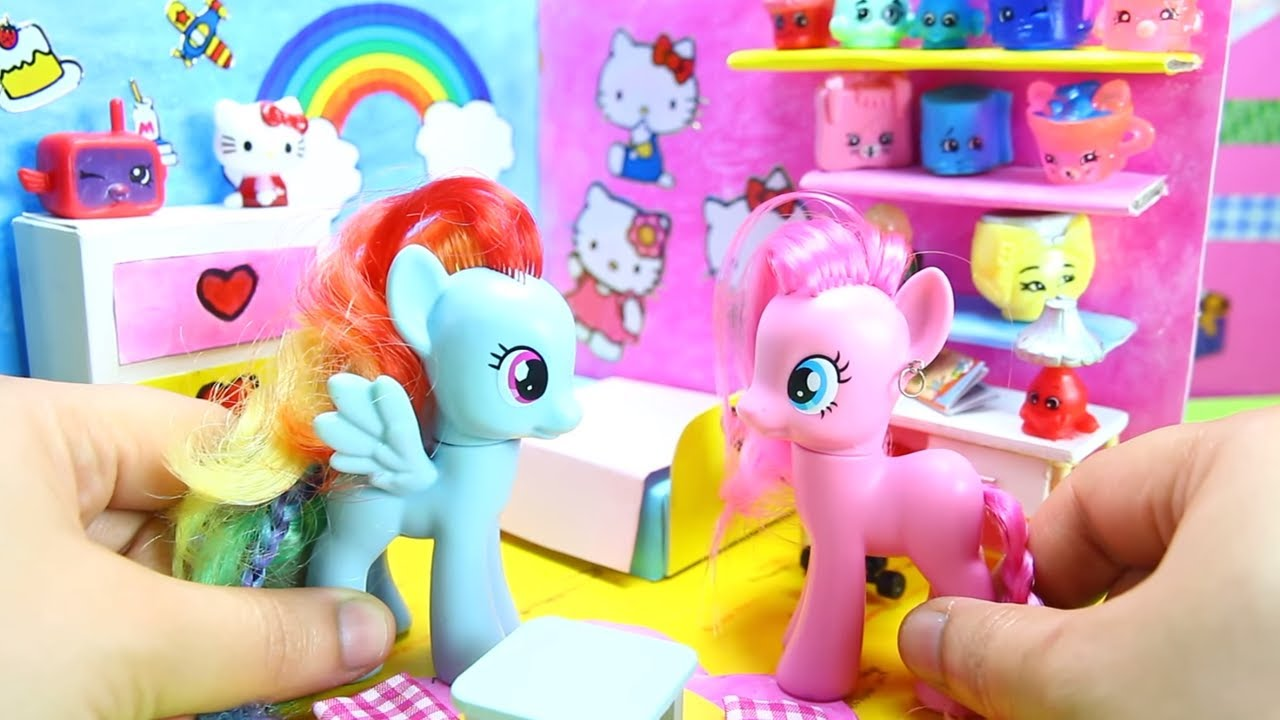 How To Make A MY LITTLE PONY BEDROOM | Rainbow Dash Surprise Dolls Room    Simplekidscrafts