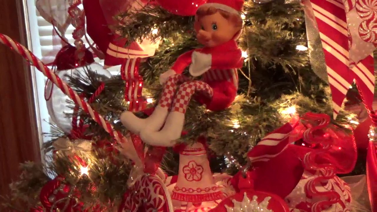 candy cane peppermint candy christmas tree 2017 - Peppermint Christmas Tree