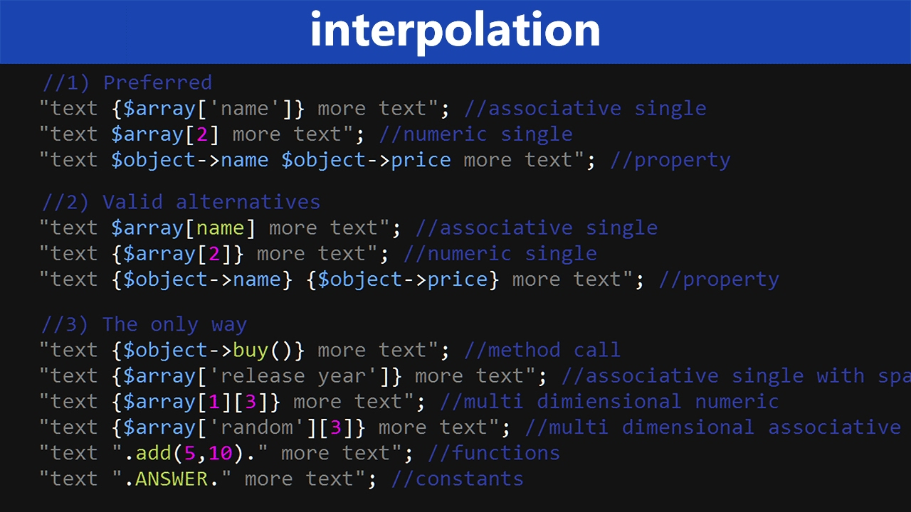 PHP Interpolation Tutorial - Learn PHP Programming