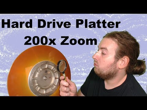 Hard Drive Platters 200x Zoom Toy Microscope