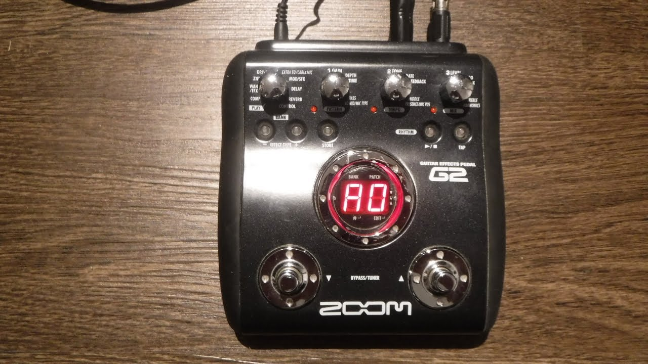 zoom g2 guitar effects processor demo and review youtube. Black Bedroom Furniture Sets. Home Design Ideas