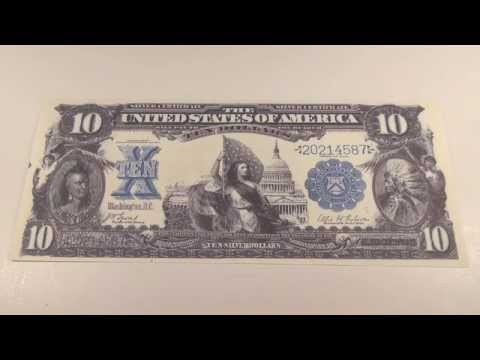 1899 $10 United States Silver Certificate - YouTube