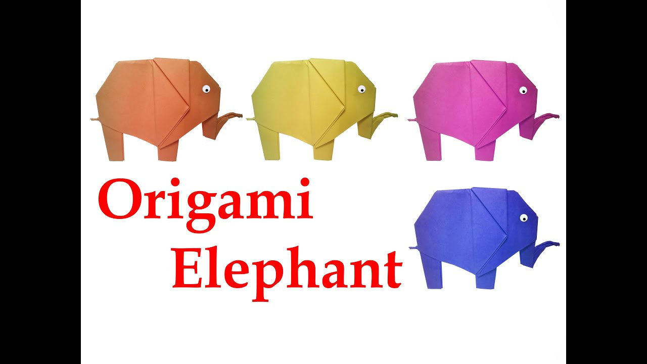 How To Make Origami Elephant DIY Crafts