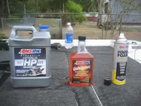 Amsoil being used in my 2 stroke Mercury Outboard
