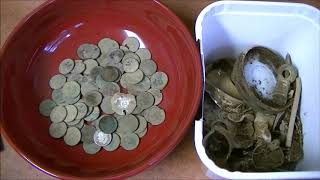 Metal Detecting The Estate Sale Buyout House! Found More Old Coins & Relics!