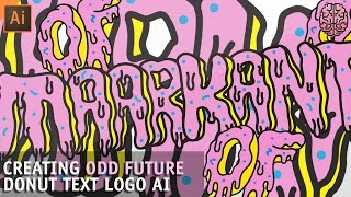 Tutorial: Odd Future Text Logo in Illustrator by Qehzy