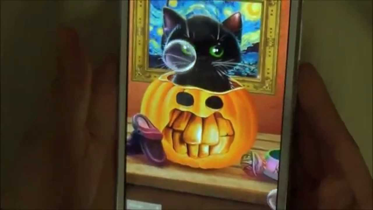 Cute Halloween Live Wallpaper With Animated Kitten For Android
