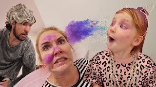 Adley Mystery Makeover!  Old Fairy Parents surprise cave club spa routine for princess Adley ‍