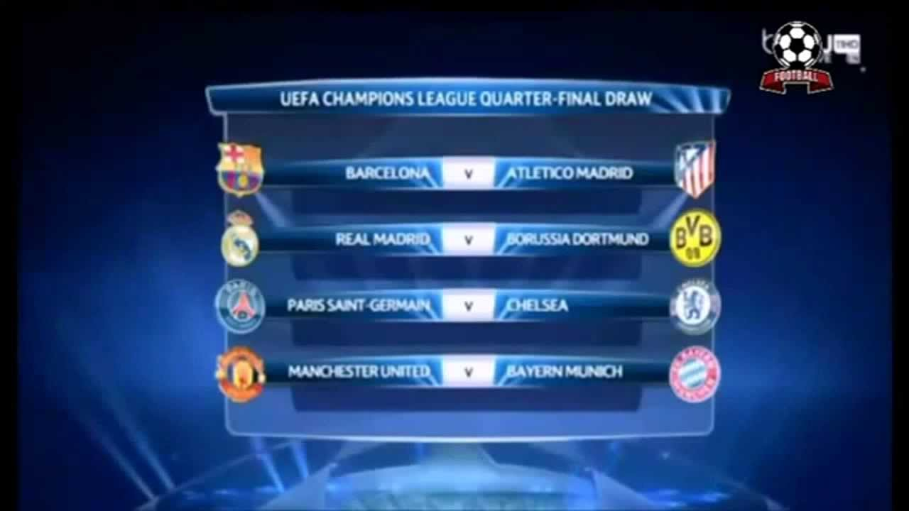 Sorteio Uefa Champions League Quartas Final