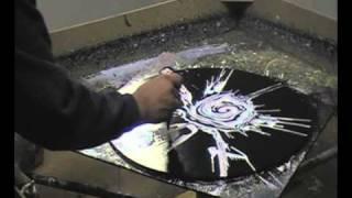 Making of 'Black Deaths Rose' Spin Painting by Abraham De La Torre