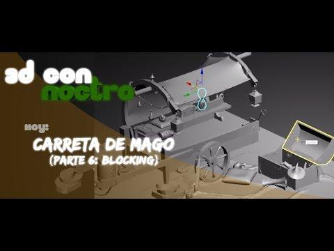 3D Carro y Assets Handpainted (Parte 6: Blocking)