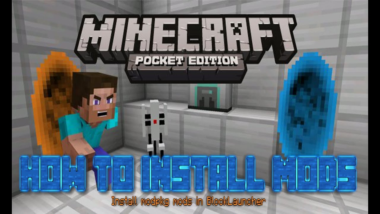 How to install modpkg mods - Minecraft Pocket Edition - YouTube