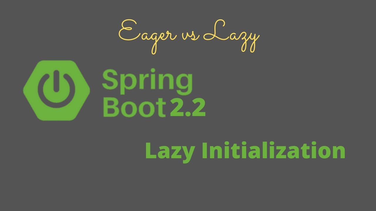 Spring boot 2.2 lazy initialization | Spring eager vs lazy loading